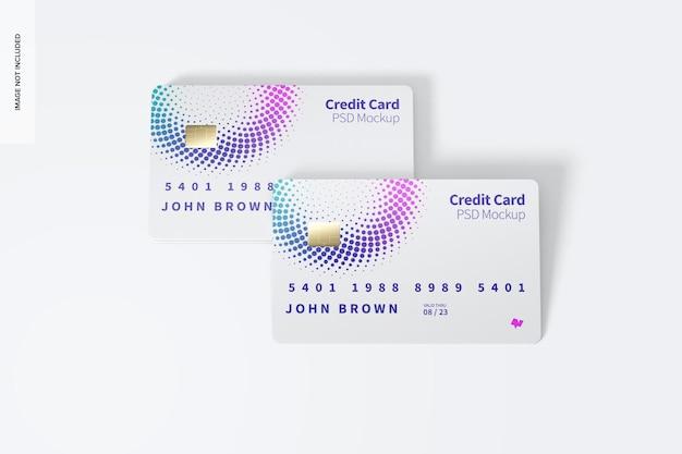 Maquette de cartes de crédit