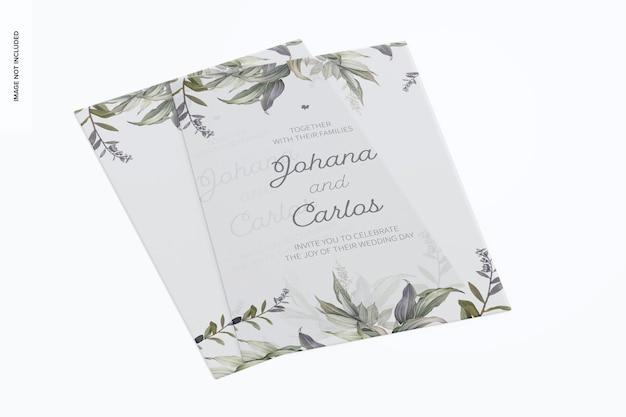 Maquette de cartes d'invitation en acrylique givré