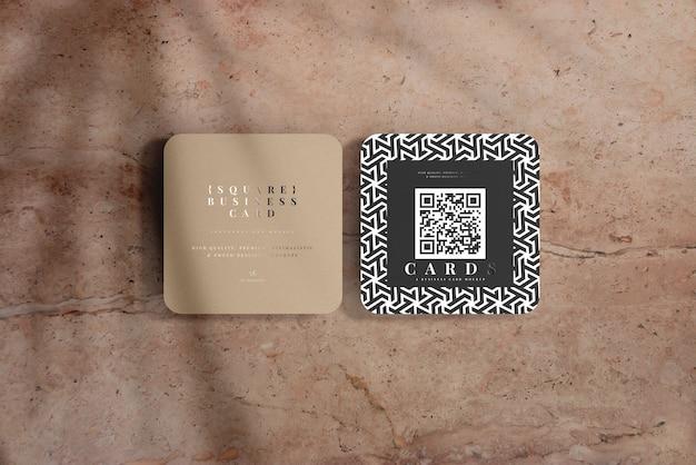 Maquette de cartes de visite carrées à coins arrondis