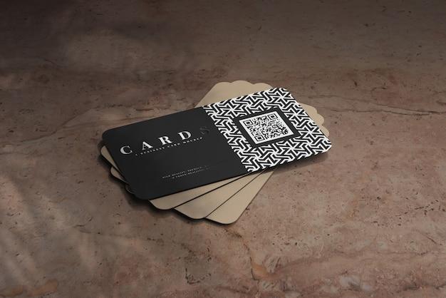 Maquette de cartes de visite à coins arrondis