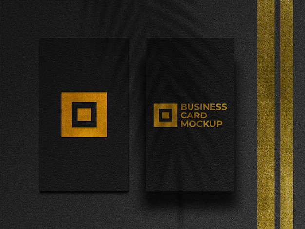 Maquette de cartes de visite dorées modernes