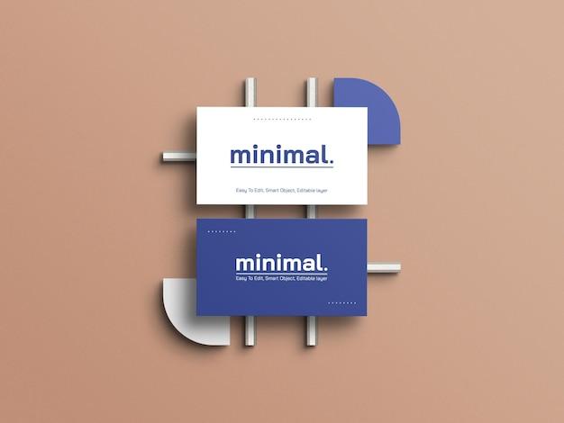 Maquette de cartes de visite minimale