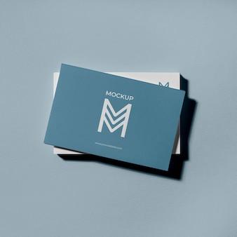 Maquette de cartes de visite de modèle