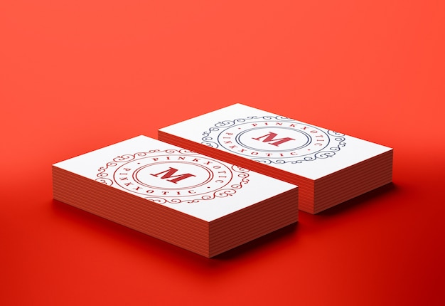 Maquette de cartes de visite moderne et minimale