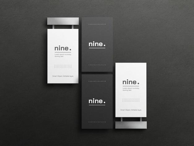 Maquette de cartes de visite en noir et blanc