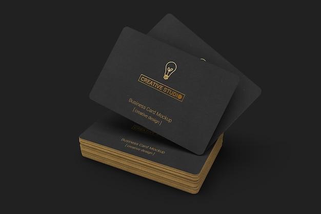 Maquette de cartes de visite noire élégante