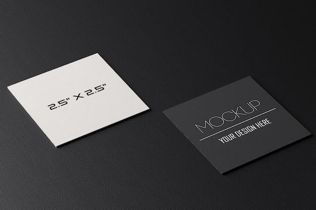 Maquette de cartes de visite en papier carré