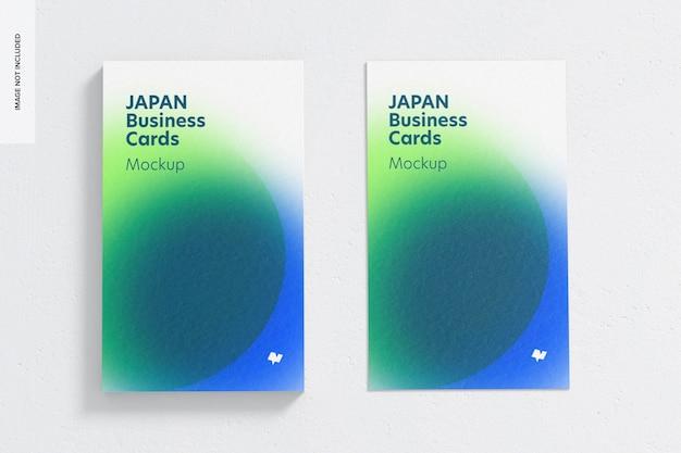 Maquette de cartes de visite portrait du japon