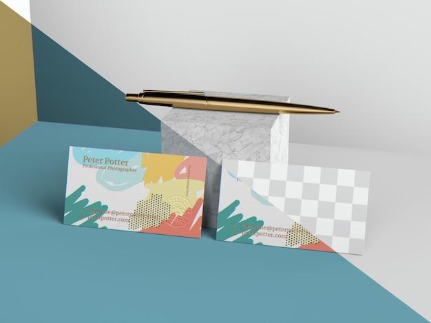 Maquette De Cartes De Visite PSD Premium