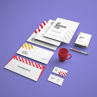 Maquette avec des cartes de visite