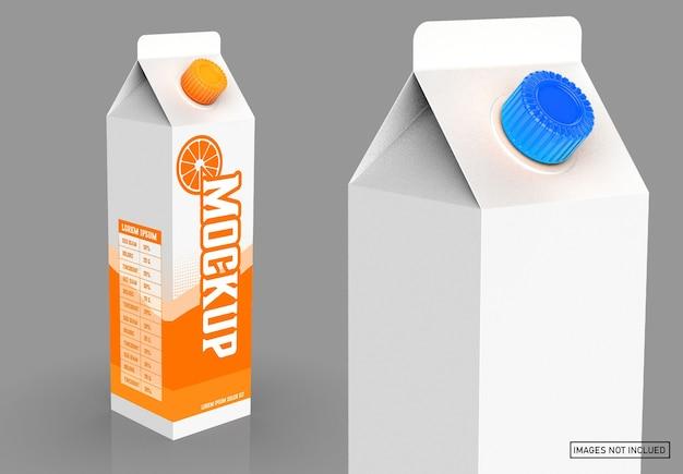 Maquette de carton de litre