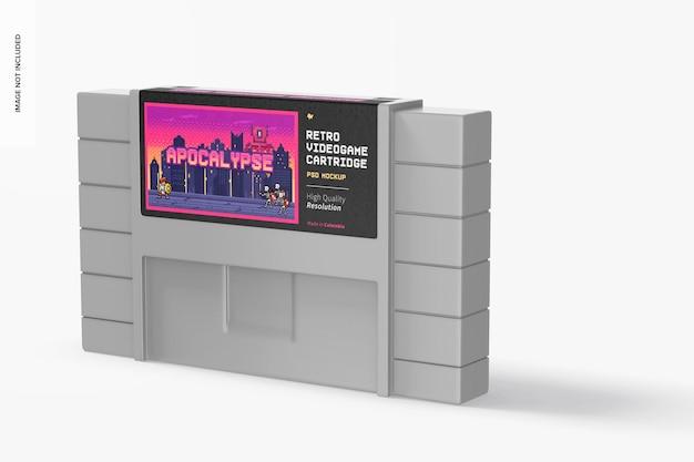 Maquette de cartouche de jeu vidéo rétro