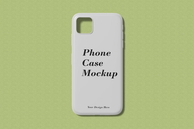Maquette de cas de téléphone isolée