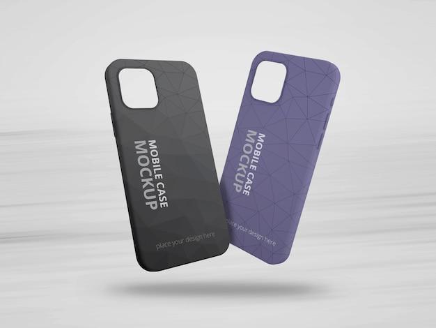 Maquette de cas de téléphone portable isolée