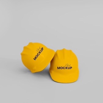 Maquette de casque de construction 3d