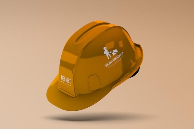 Maquette de casque de construction isolée