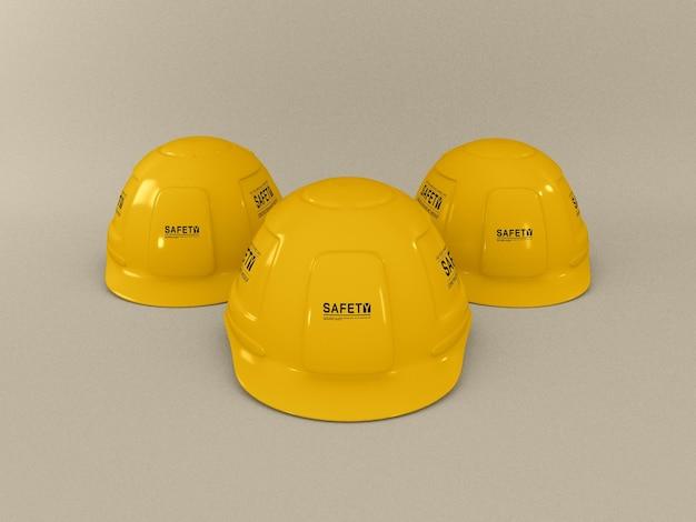 Maquette de casque de construction