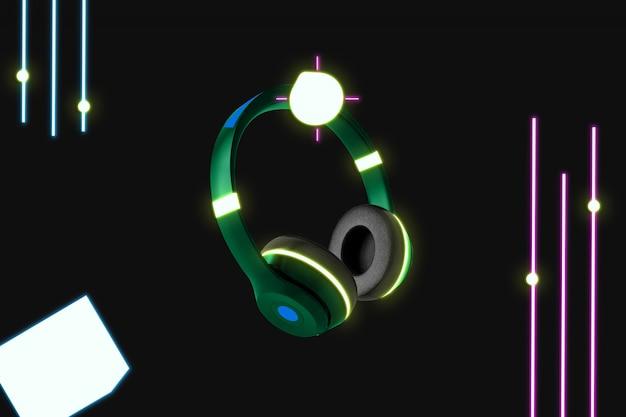 Maquette de casque néon
