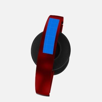 Maquette de casque rouge
