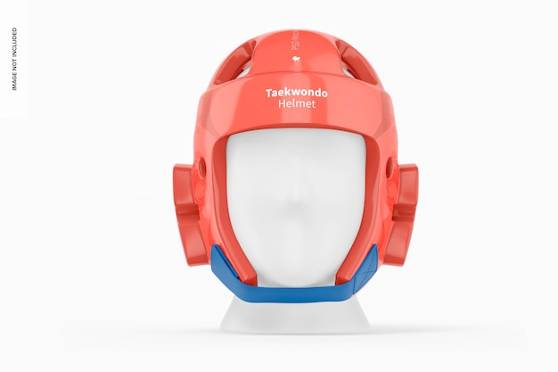 Maquette de casque de taekwondo, vue de face