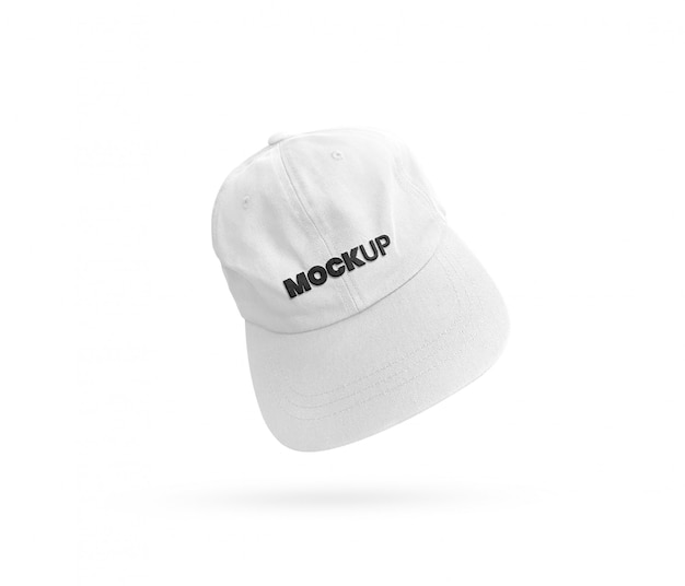Maquette de casquette de baseball blanche