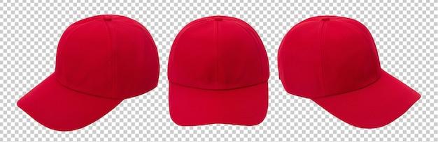 Maquette de casquette de baseball rouge isolée