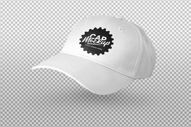 Maquette de casquette blanche