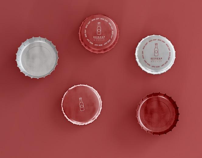 Maquette de casquettes de bière