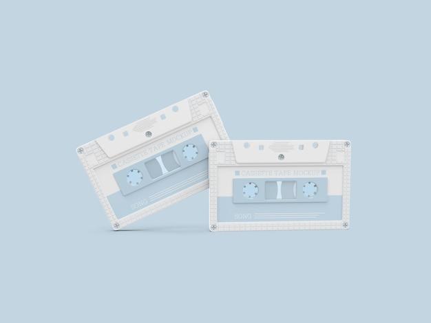 Maquette de cassette en plastique