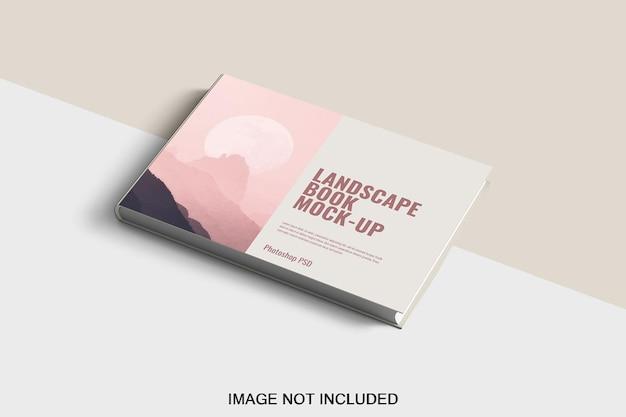 Maquette de catalogue à couverture rigide isolée