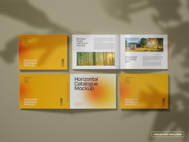 Maquette de catalogue horizontale