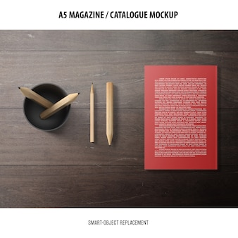 Maquette de catalogue de magazine