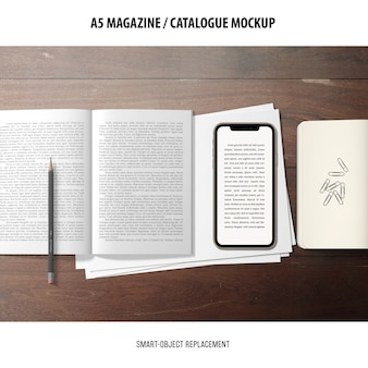 Maquette de catalogue de magazine
