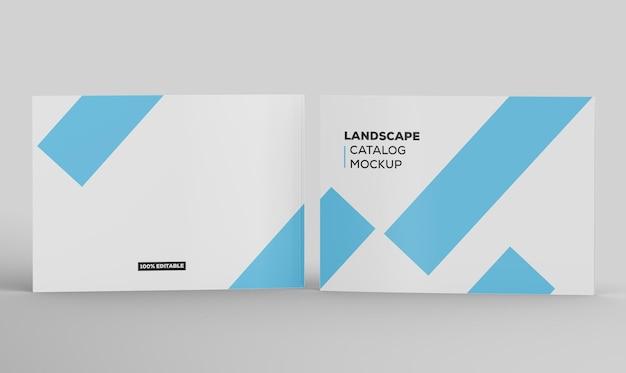Maquette de catalogue de paysage