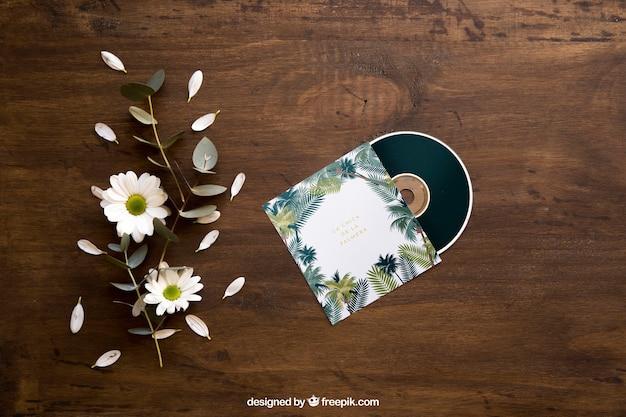 Maquette de cd floral