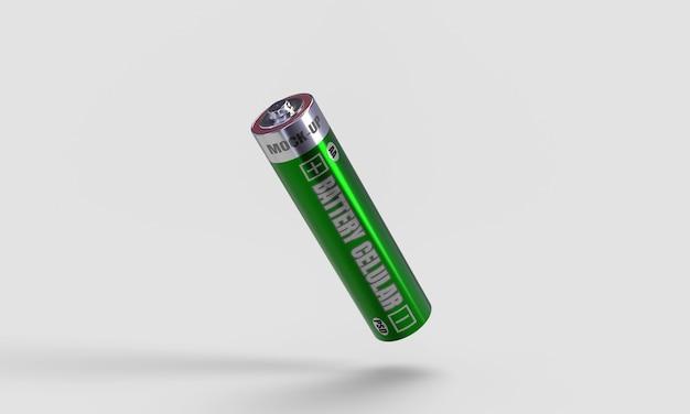 Maquette cellulaire de batterie en rendu 3d pour la conception de produits