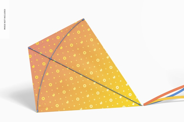 Maquette de cerf-volant volant en diamant, penchée