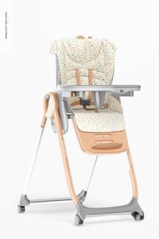 Maquette de chaise d'alimentation pour bébé, vue de droite