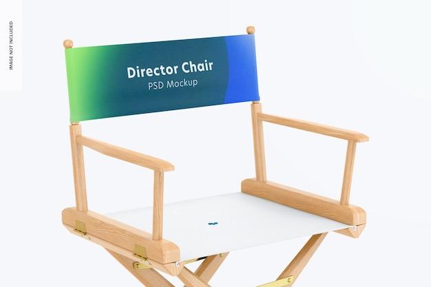 Maquette de chaise de directeur, gros plan