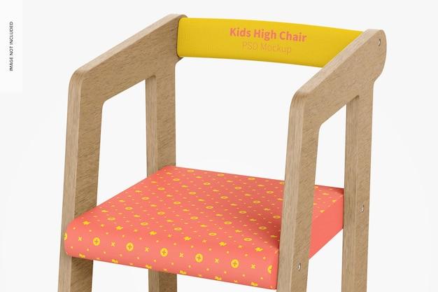 Maquette de chaise haute pour enfants, gros plan
