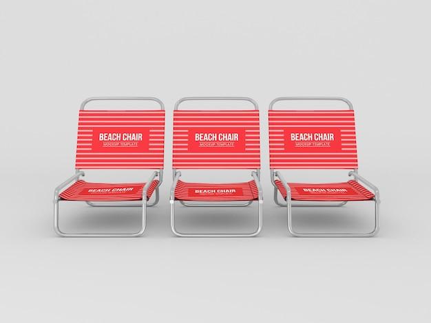 Maquette de chaise de plage