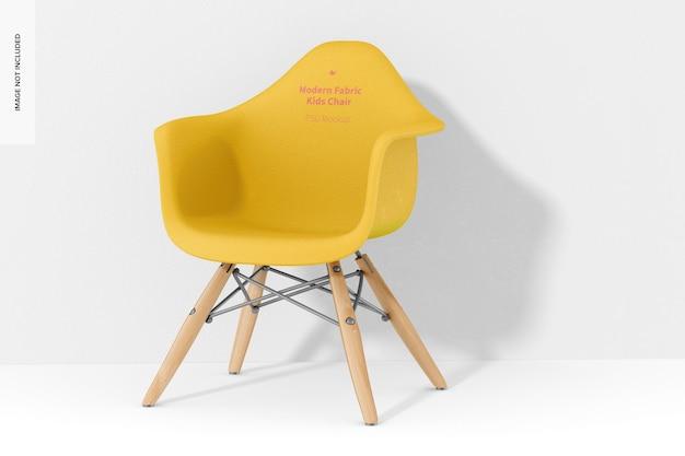 Maquette de chaise pour enfants en tissu moderne, perspective