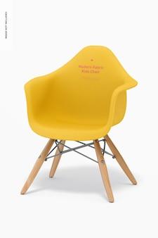 Maquette de chaise pour enfants en tissu moderne