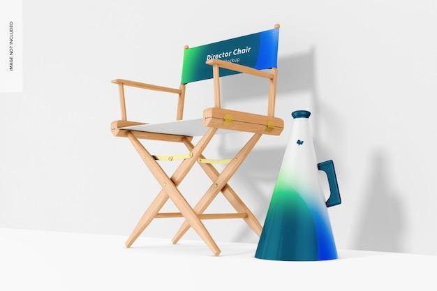 Maquette de chaise de réalisateur, vue de gauche