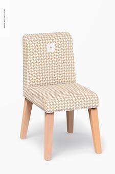 Maquette de chaise de salle à manger en cuir