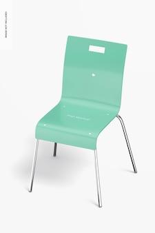 Maquette de chaise de salle à manger en métal