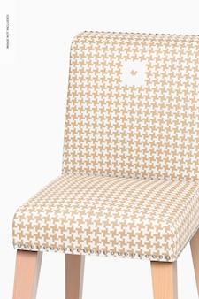 Maquette de chaises de salle à manger en cuir, gros plan