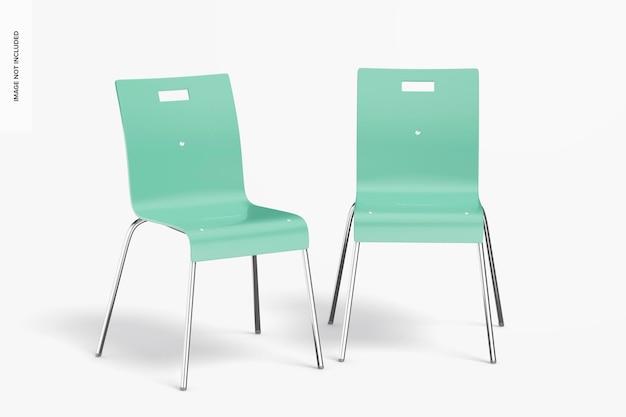 Maquette de chaises de salle à manger en métal