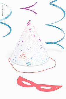 Maquette de chapeau de fête mat