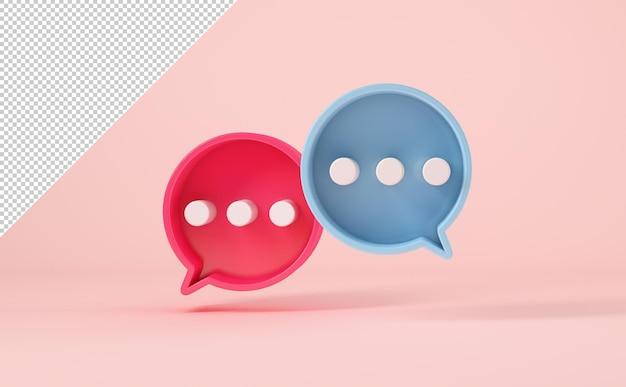 Maquette de chat à bulles ou symboles de commentaire